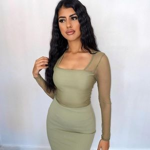 Overlay Mini Dress